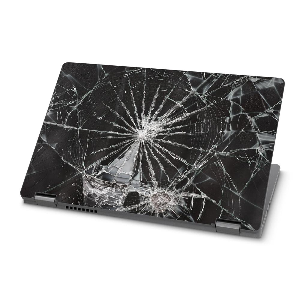 Laptop with a smashed screen
